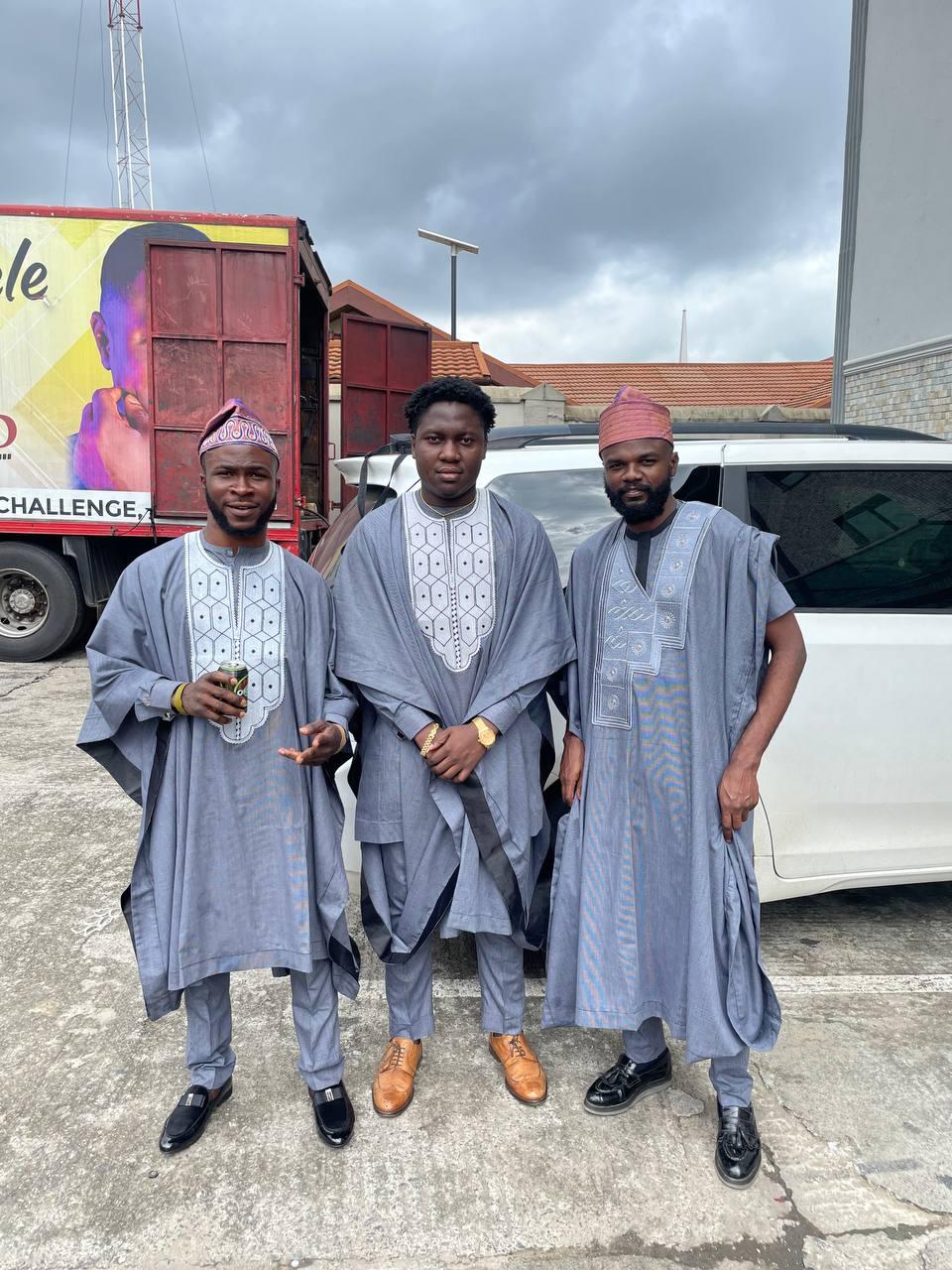 Nigerian men in Agbada - fashion accessories